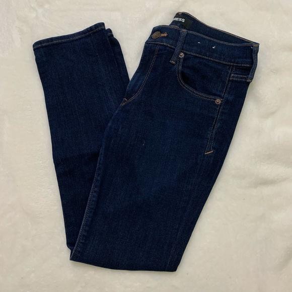 Express Navy Skinny Jeans